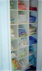 linen closets customized by Expert Closets
