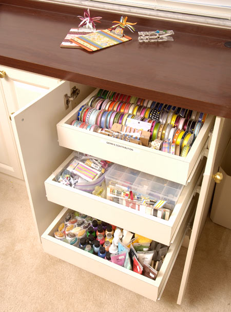 craft storage for home office and craft rooms
